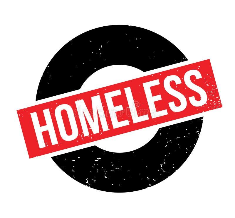 Tampon en caoutchouc sans abri illustration libre de droits