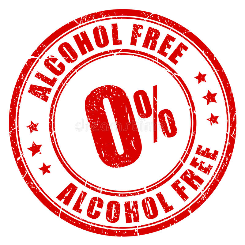 Tampon en caoutchouc sans alcool illustration libre de droits