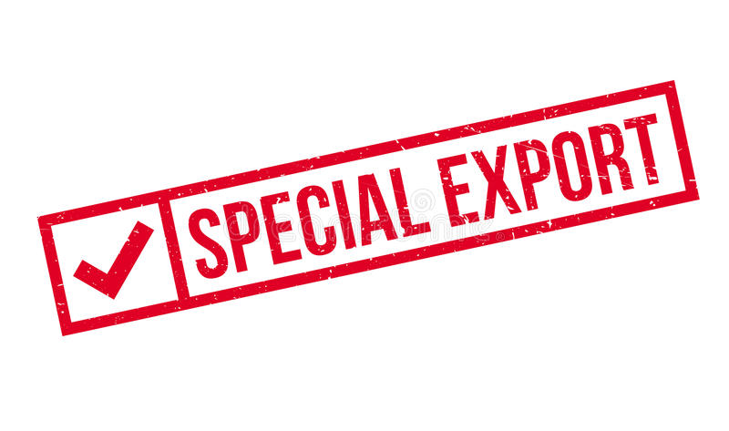 Tampon en caoutchouc spécial d'exportation illustration libre de droits