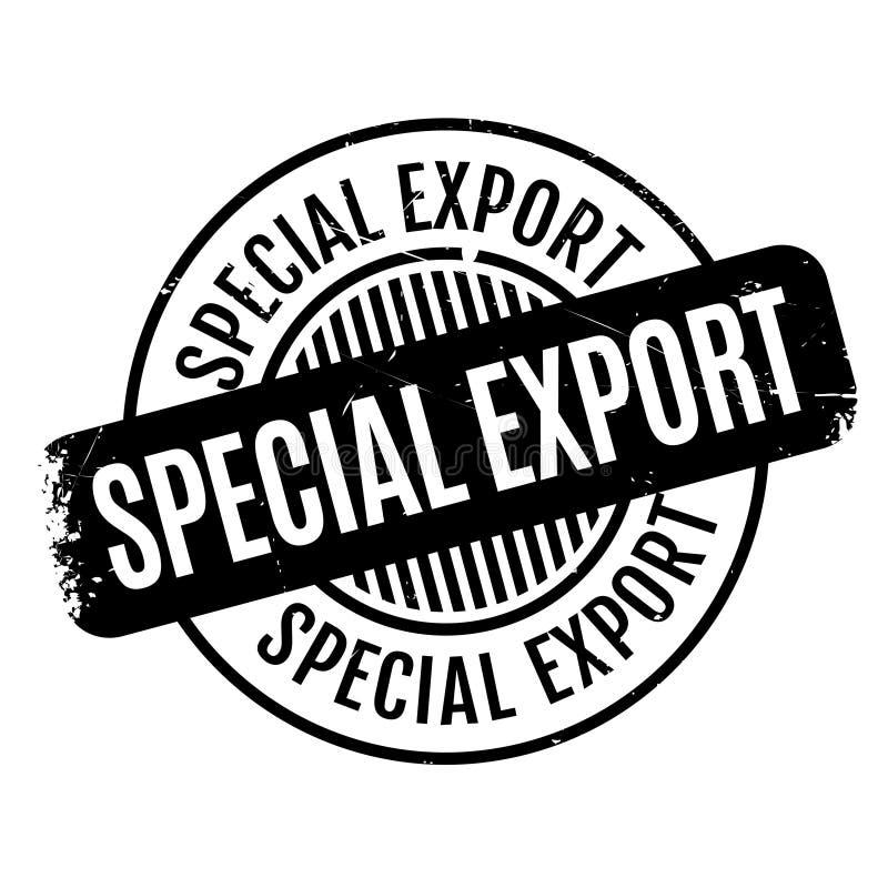 Tampon en caoutchouc spécial d'exportation illustration de vecteur