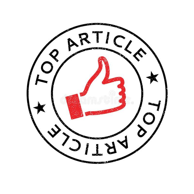 Tampon en caoutchouc supérieur d'article illustration libre de droits