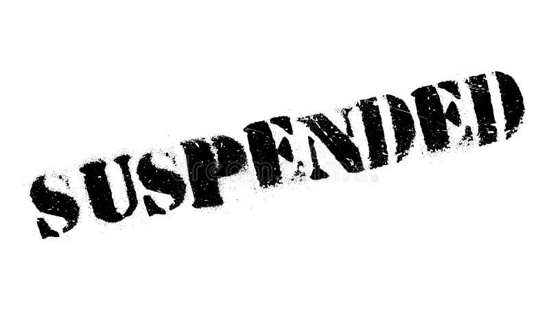 Tampon en caoutchouc suspendu illustration libre de droits