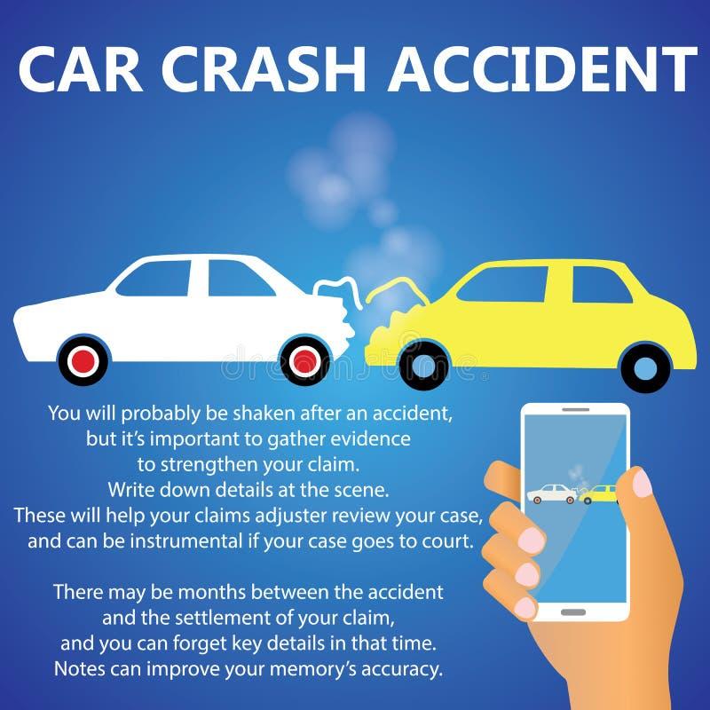Tamponamenti di incidente stradale illustrazione di stock