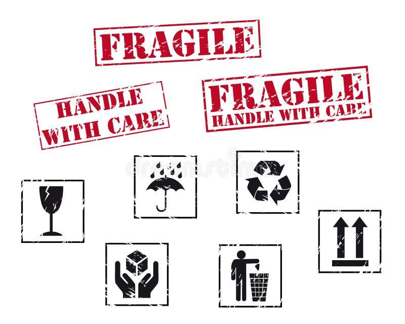 Tampons en caoutchouc fragiles illustration de vecteur