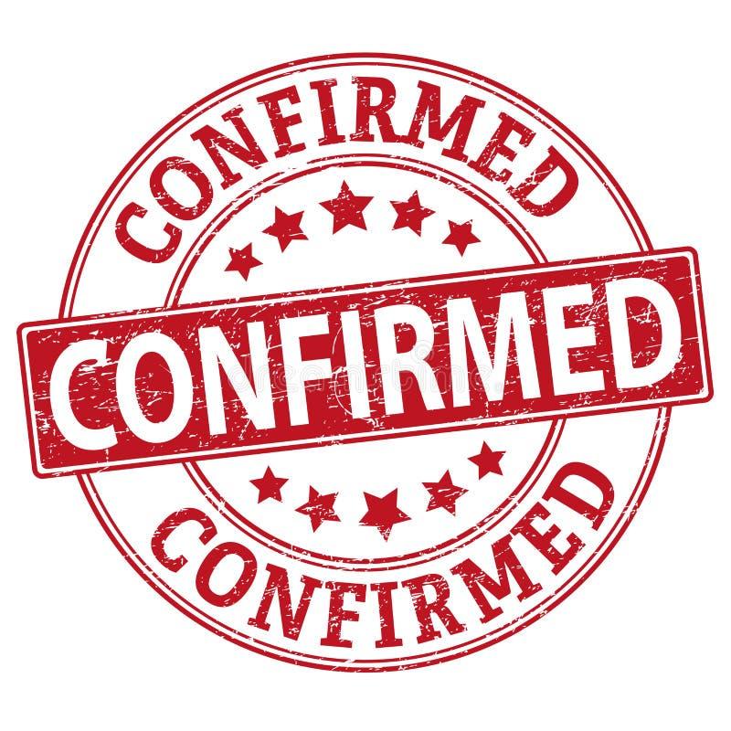 Tampons en caoutchouc grunges confirmés et certifiés sur blanc, illustration de vecteur illustration de vecteur