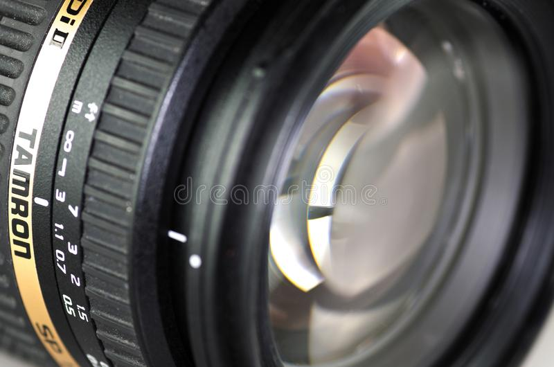Tamron lens 17-50mm. Mnichovo Hradiste / Czech republic - December 29 2017: Tamron lens 17-50mm royalty free stock image