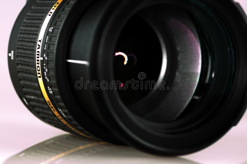 Tamron lens 17-50mm. Mnichovo Hradiste / Czech republic - December 29 2017: Tamron lens 17-50mm royalty free stock photos