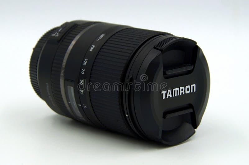 Tamron 16-300mm f/3 5-6 3二ii vc索尼的宏指令透镜 库存图片
