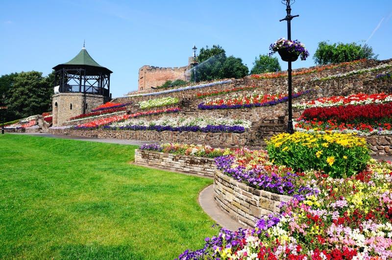 Tamworth ogródy i kasztel zdjęcie royalty free