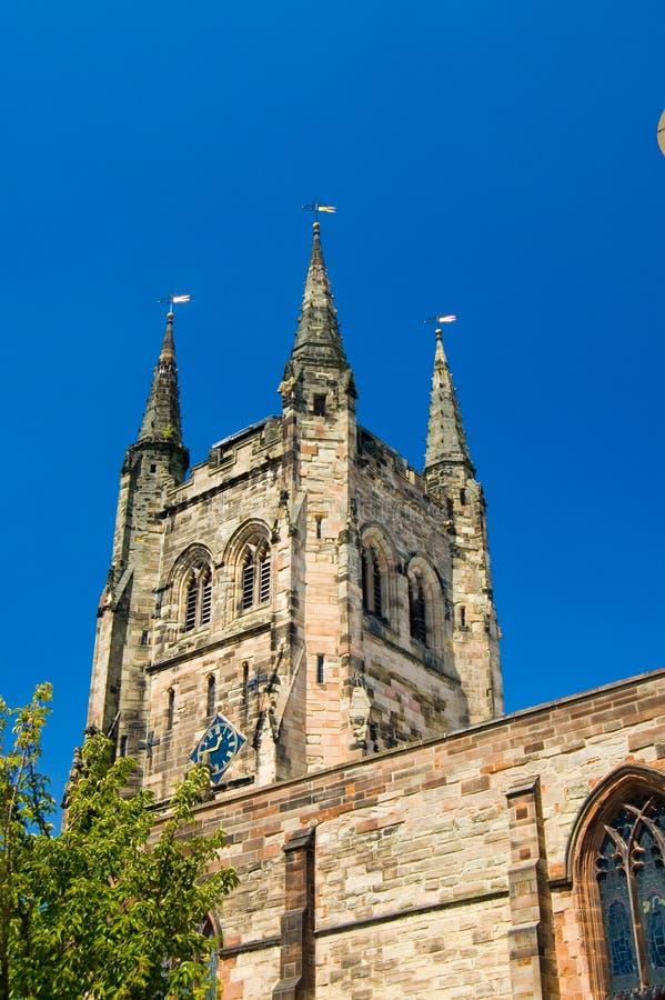 Tamworth, une église très anglaise photos stock