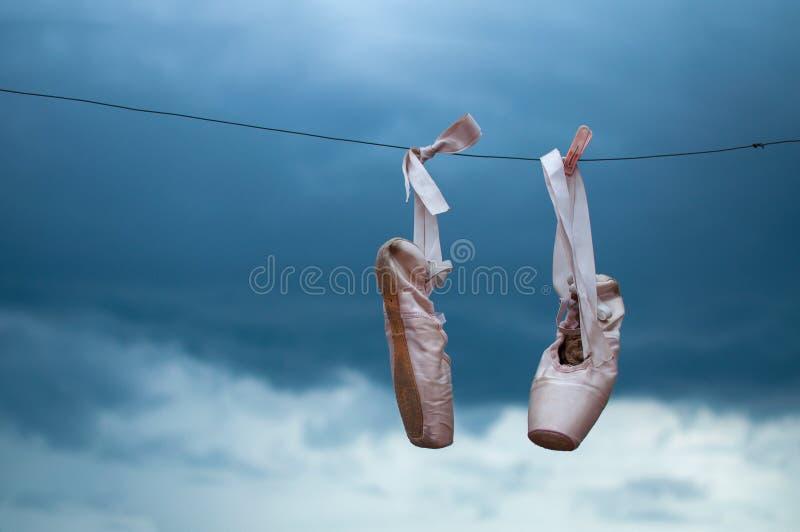 Tanów baletniczy buty zdjęcie royalty free