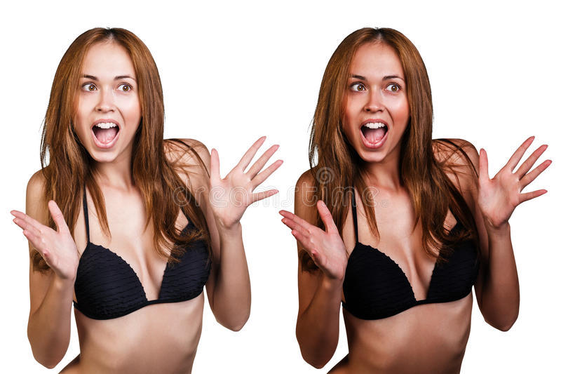 Tan before and after стоковые изображения rf