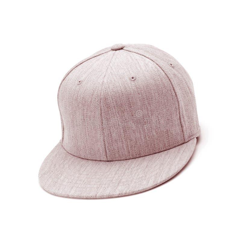 Tan Baseball Cap isolated on white royalty free stock photos