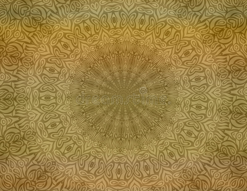 Tan batik background wallpaper stock illustration