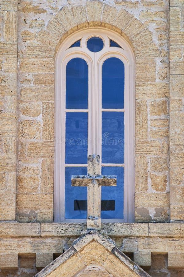 Tan Church Window stockbilder