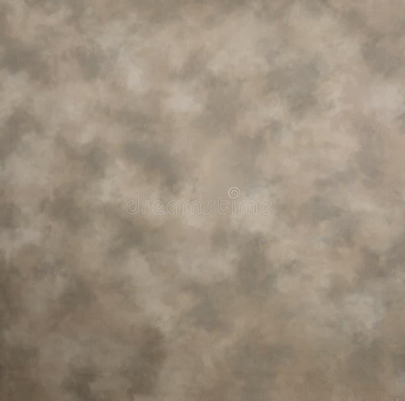 Tan en Grijze gevlekte Canvasachtergrond stock afbeelding