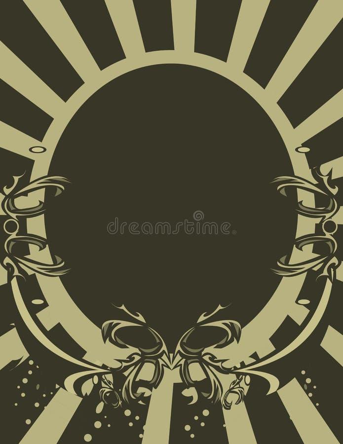 Tan Gray oval background stock illustration