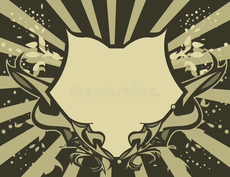 Download Tan Gray shield stock vector. Illustration of shield, crest - 5330368