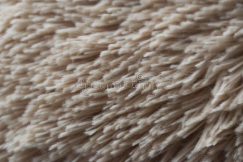 Tan Hair Fabric Teddy Bear-Beschaffenheit lizenzfreie stockfotografie