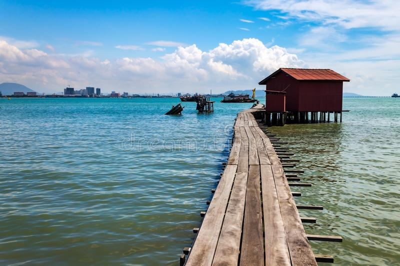 Tan Jetty, część Clan Jetties, Georgetown, Penang, Malezja fotografia stock