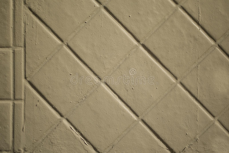 Tan Painted Brick Wall photo stock