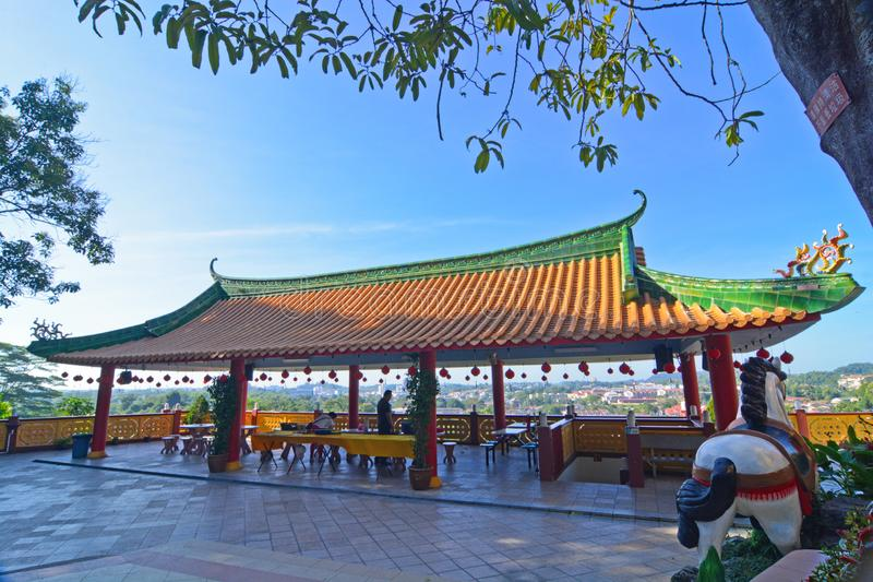 TAN SZE KHOON TEMPLE. Centipede Temple is the nickname given to Then Tze Temple which is located along Jalan Temiang in the northern part of Seremban. The temple stock photography