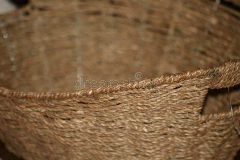 Tan-Weidenkorbabschluß oben lizenzfreies stockbild