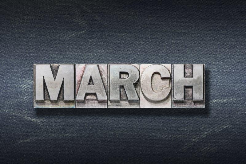 Tana di parola di marzo fotografia stock