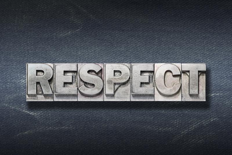 Tana di parola di rispetto immagini stock libere da diritti