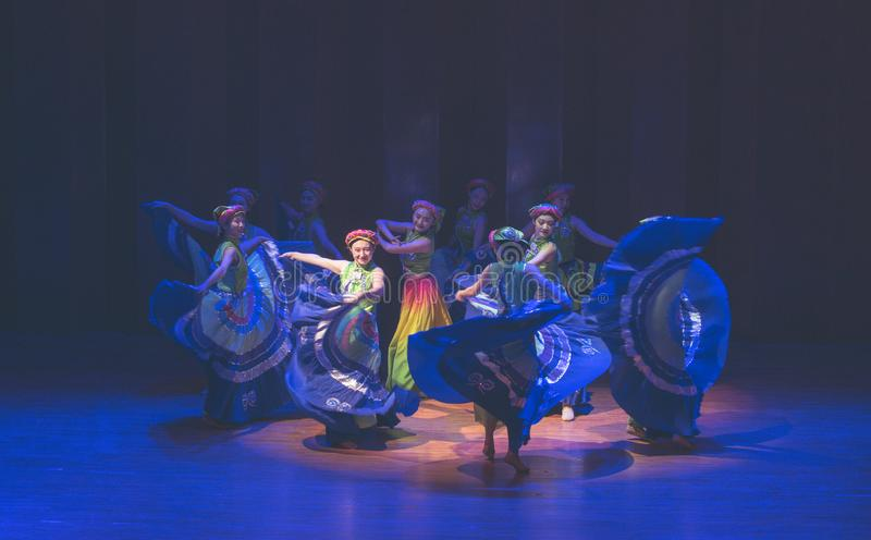 Tana dramata Axi Yi ludowy taniec obraz stock