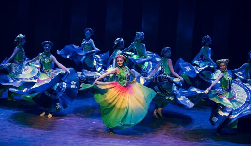 Tana dramata Axi Yi ludowy taniec zdjęcie stock