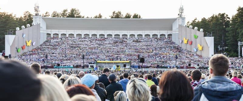 Tana festiwalu finału Uroczysty koncert i zdjęcie stock