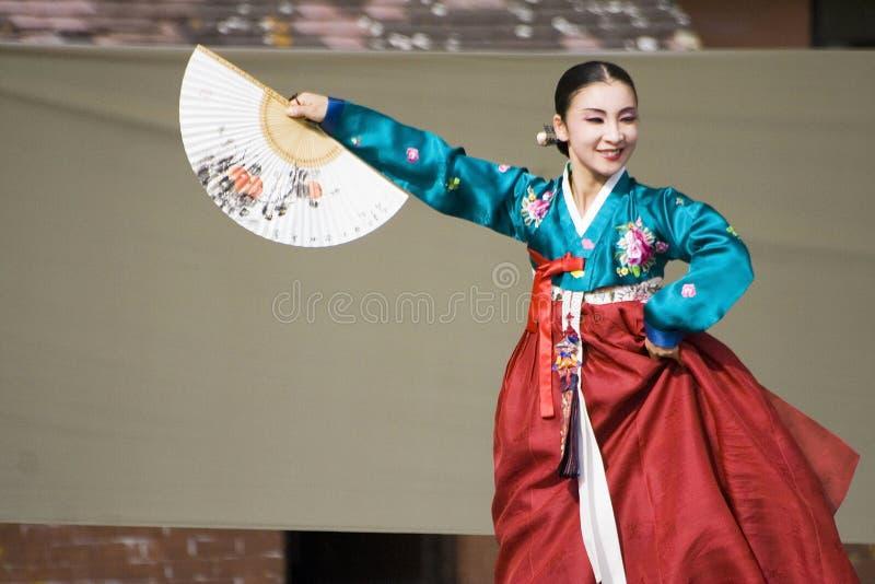 tana występ etniczny koreański obraz stock