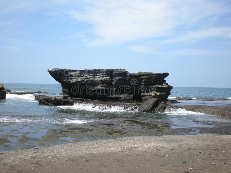 Tanah Lod plaża, Bali, Indonezja obrazy stock