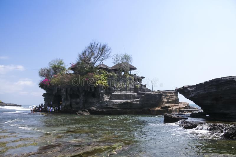 Tanah lot sea temple bali indonesia stock photo