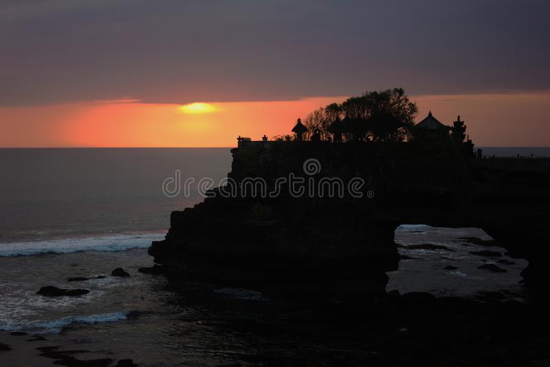 Tanah Lot Temple Sunset stock image