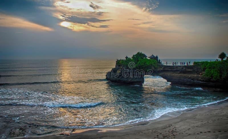 Tanah lotttempel Bali, Indonesien royaltyfria foton