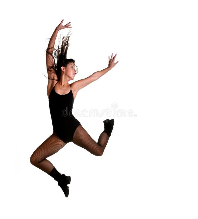 tancerkę powietrza skakaniu obrazy stock