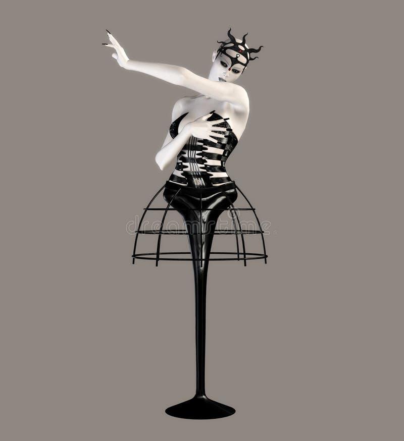 tancerka fantastyczne royalty ilustracja