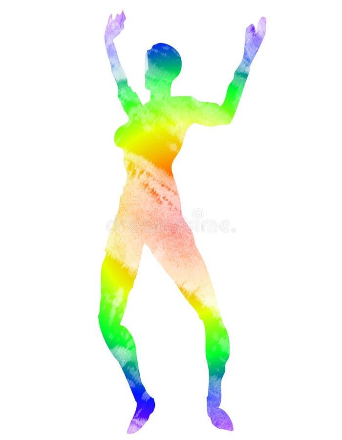 tancerka farbujący psychodeliczny krawat ilustracja wektor