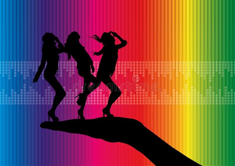 tancerz dyskoteka ilustracja wektor