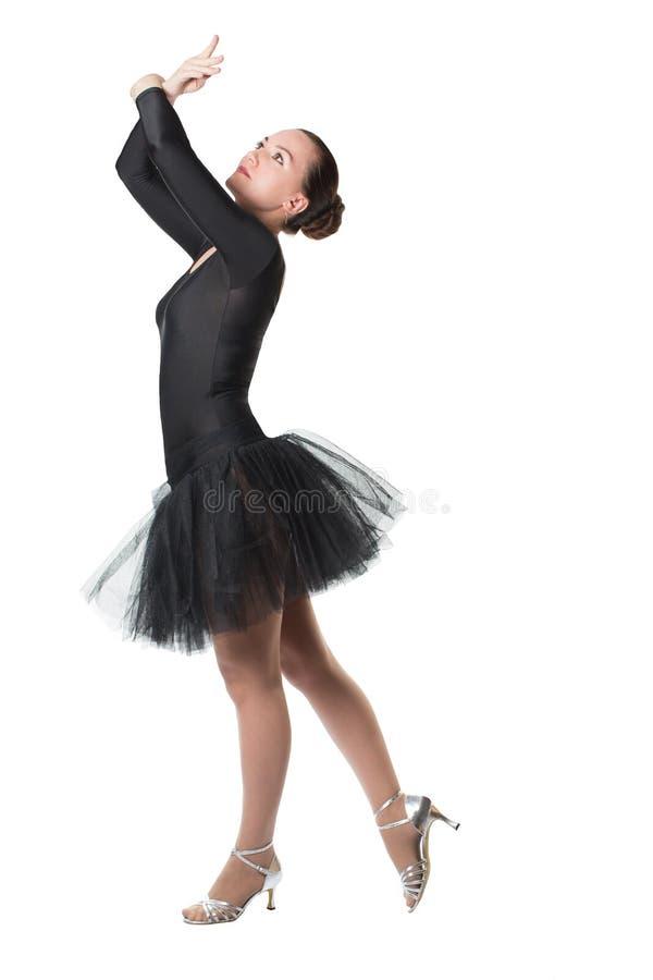 Tancerz kobiety baleriny dancingowy balet z spódniczką baletnicy obrazy royalty free