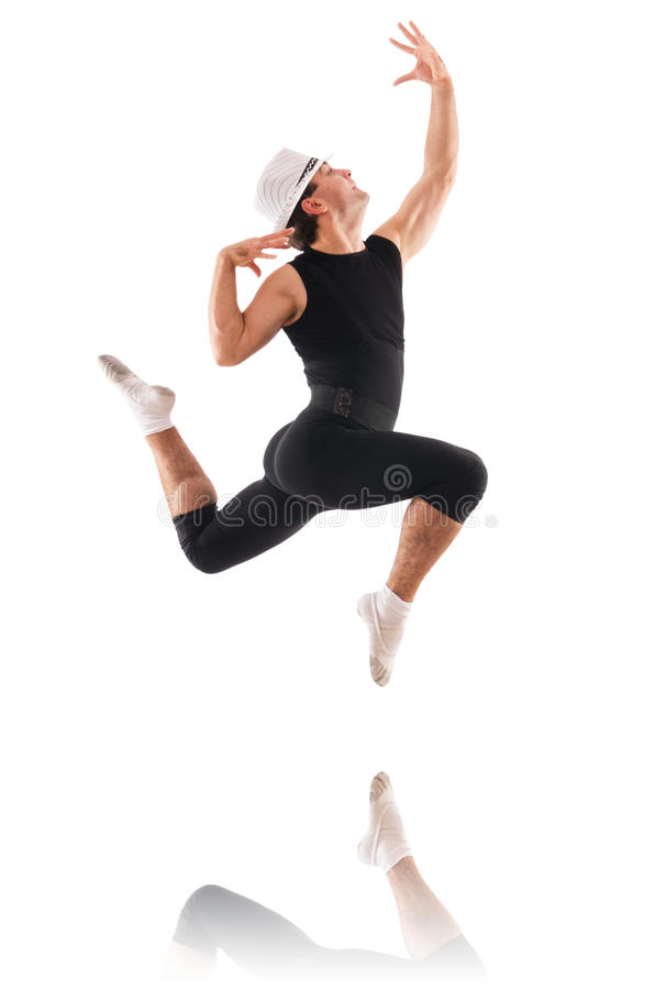 Download Tancerz odizolowywający obraz stock. Obraz złożonej z bluza - 28784507