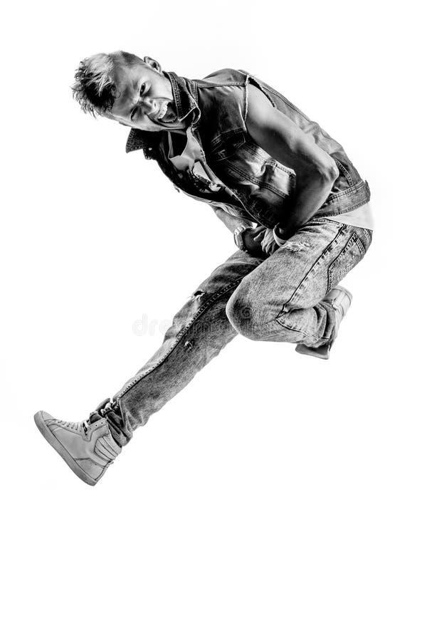 Tancerz w studiu obraz stock