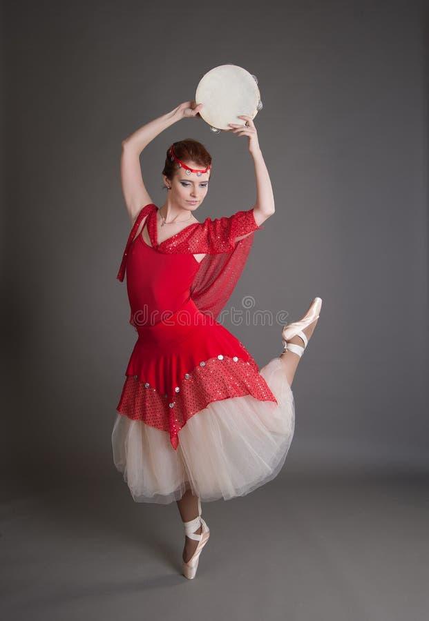 Tancerz z tambourine zdjęcia royalty free