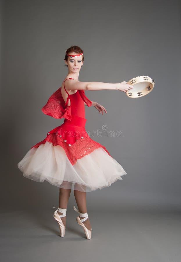 Tancerz z tambourine obraz stock