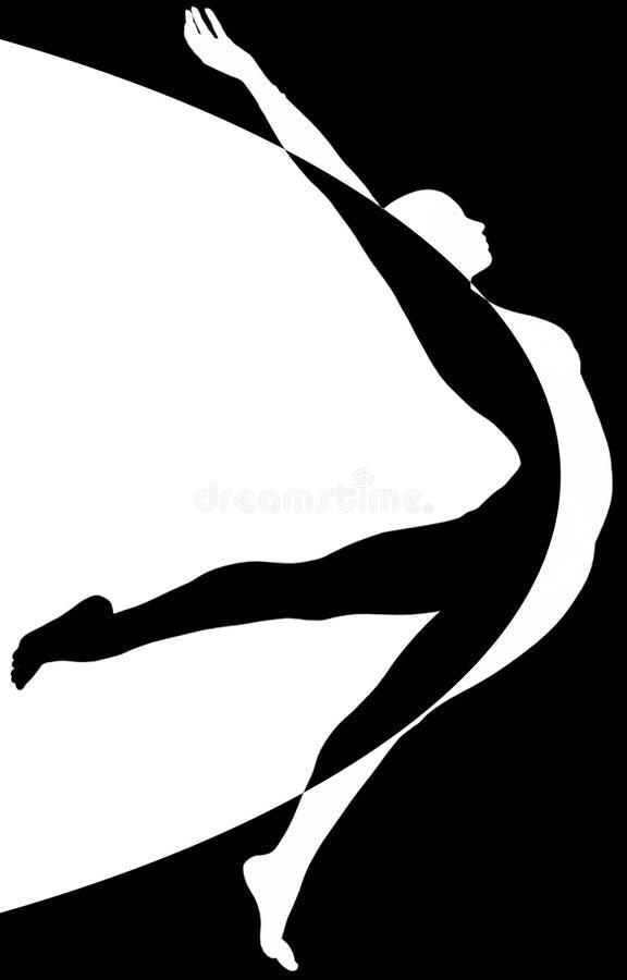 tancerza czarny biel royalty ilustracja