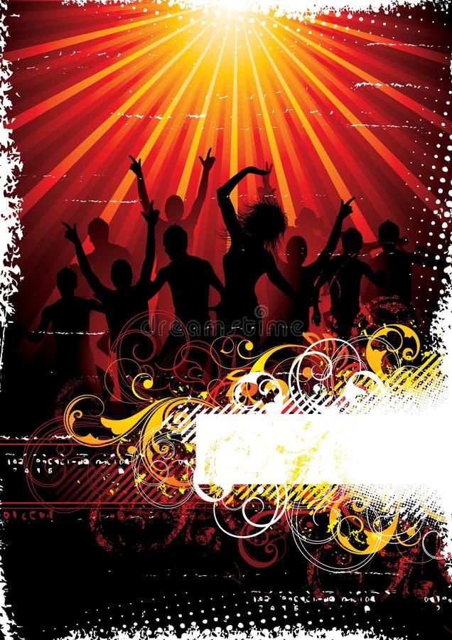 tancerza dyskoteki plakat ilustracja wektor
