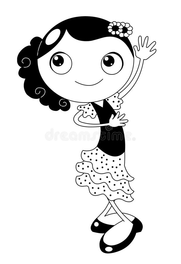 Download Tancerza flamenco ilustracji. Obraz złożonej z kredka - 13602105