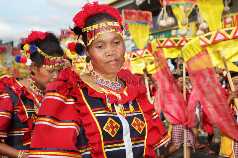 tancerza kaamulan Philippines portret zdjęcie stock